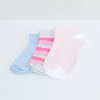 MAX Printed Ankle Socks - Pack of 3