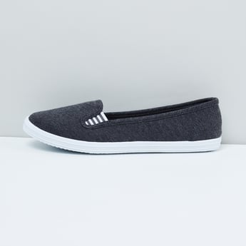 MAX Heathered Plimsolls with Contrast Gusset