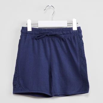 MAX Floral Lace Cotton Shorts