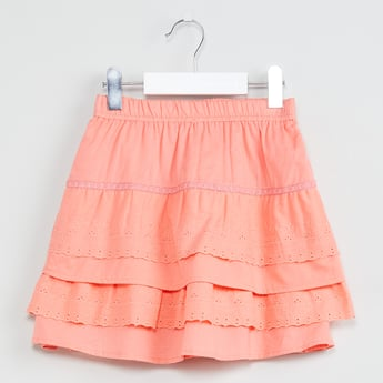 MAX Solid Tiered Skirt