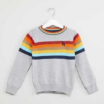 MAX Striped Crew-Neck Sweater