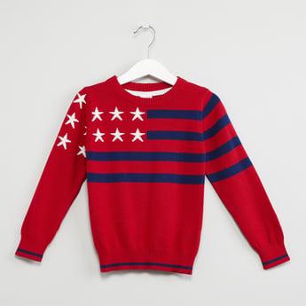 MAX Printed Crew-Neck Sweater
