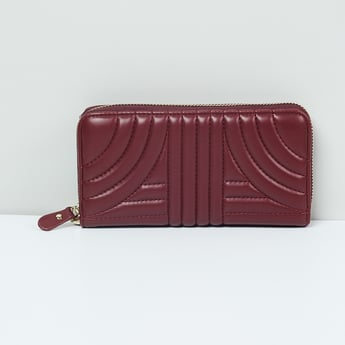 MAX Textured Zip Around Wallet