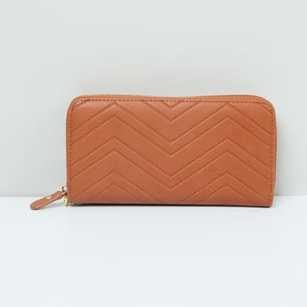 MAX Chevron Zip-Around Wallet