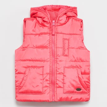 MAX Solid Quilted Hooded Jacket
