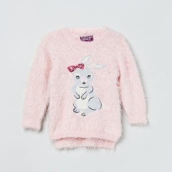 MAX Embellished Round Neck Sweater