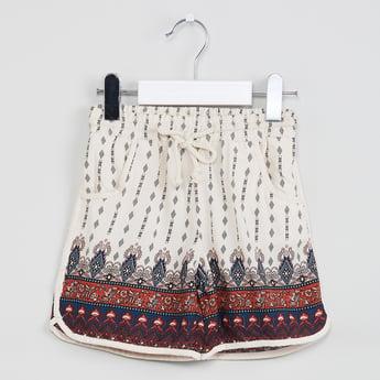 MAX Drawstring Waist Printed Shorts