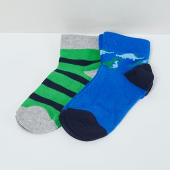 MAX Printed Striped Socks - Pack of 2 Pcs.