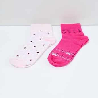 MAX Printed Ankle-Length Socks - Pack of 2 Pairs