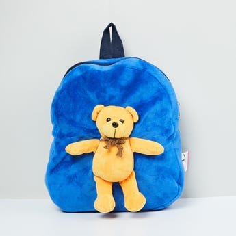 MAX Textured Backpack with Attached Teddybear