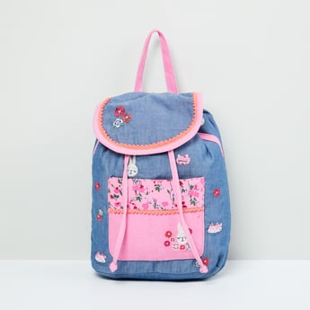 MAX Embroidered Flap-Closure Backpack