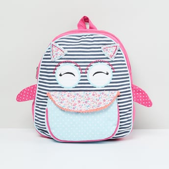 MAX Striped Backpack with Front Pocket