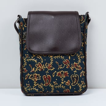 MAX Printed Flap Closure Handbag