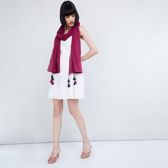 MAX Printed Tassel Trimmed Stole