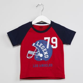 MAX Raglan Sleeves Los Angeles Legends Print T-shirt