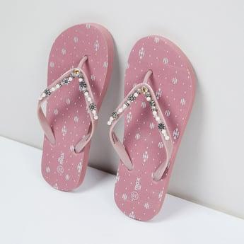 MAX Embellished V-strap Slippers