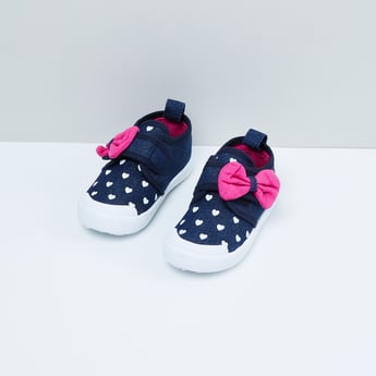 MAX Heart Print Casual Shoes with Bow