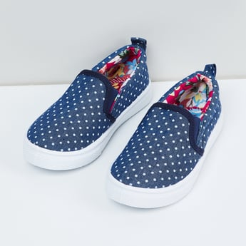 MAX Polka Dots Print Slip-On Shoes