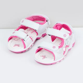 MAX Printed Velcro Strap Sandals