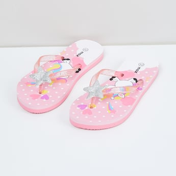 MAX Printed Star Applique Slippers