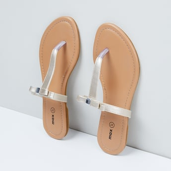 MAX Bow Detail T-strap Flats