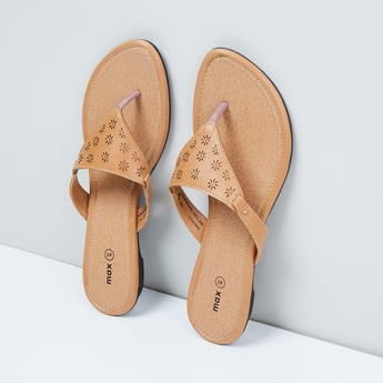 MAX Cut-Out Detail V-Strap Flats
