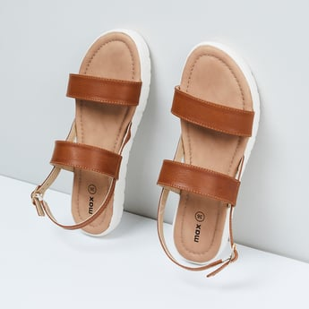 MAX Solid Ankle Strap Flatforms