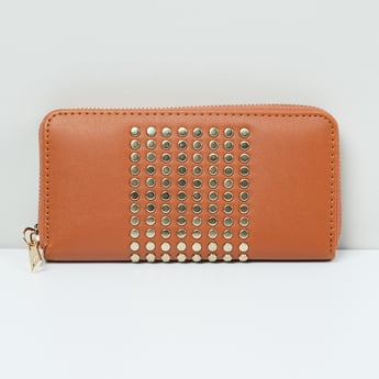 MAX Studded Zip-Around Wallet