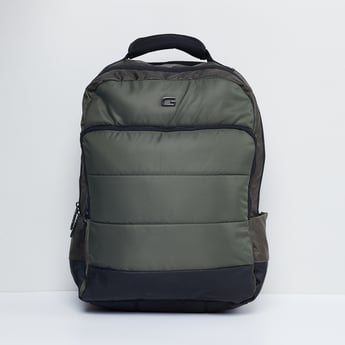MAX Solid Panelled Backpack