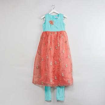 MAX Colourblock Embroidered Tutu Dress with Leggings