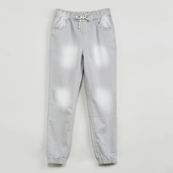 MAX Stonewashed Denim Joggers