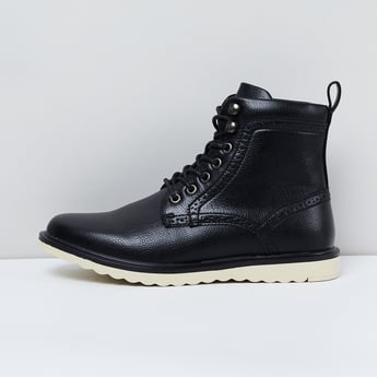 MAX Solid Lace-Up High-Top Boots