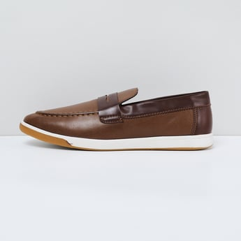 MAX Solid Panelled Slip-On Shoes