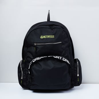 MAX Typographic Print Laptop Backpack