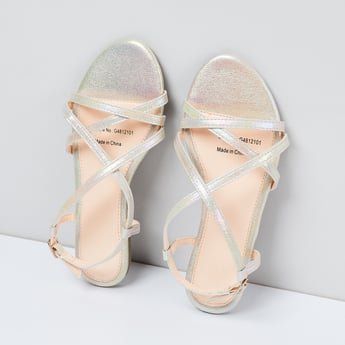 MAX Sheen Detailed Strappy Sandals