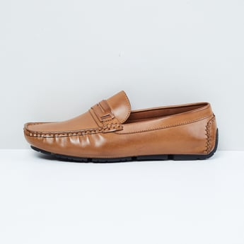 MAX Textured Penny Loafers