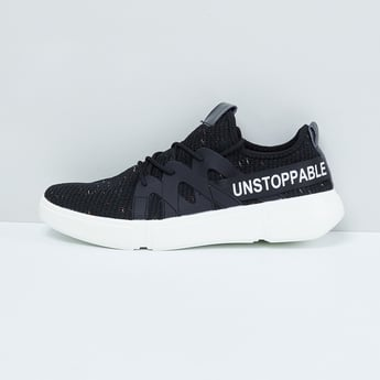 MAX Typographic Print Textured Casual Shoes