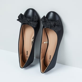 MAX Solid Ballerinas with Bow