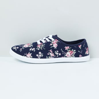 MAX Floral Print Canvas Sneakers