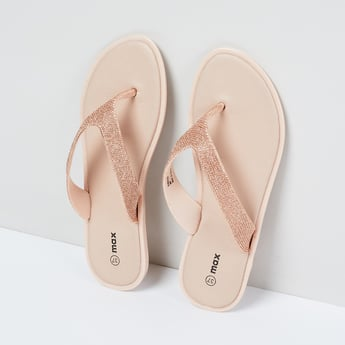 MAX Embellished Open-Toe Slippers
