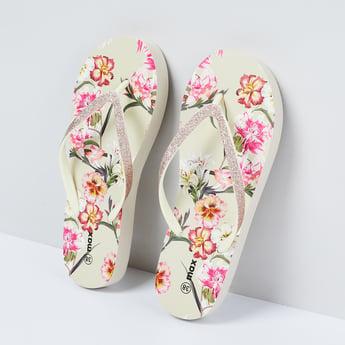MAX Floral Print Flip Flops