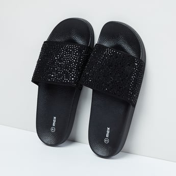 MAX Embellished Textured Sandals