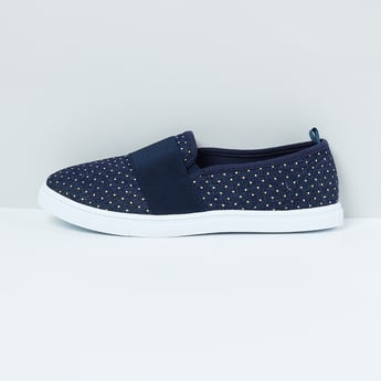 MAX Embellished Canvas Slip-On Shoes