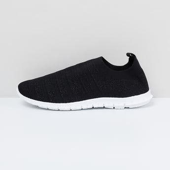 MAX Textured Knit-Sock Shoes