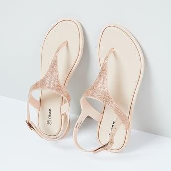 MAX Embellished Ankle-Loop Sandals