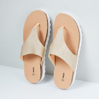 MAX Textured Open-Front Sandals