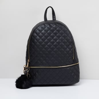 MAX Quilted Backpack with Pompom