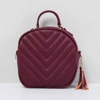 MAX Geometric-Shaped Textured Sling Bag