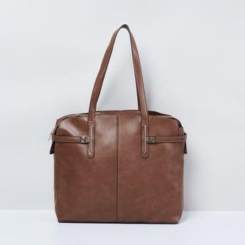 MAX Solid Zip-Closure Handbag