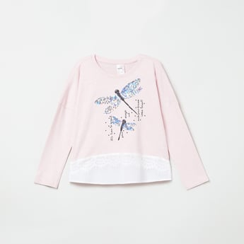 MAX Embellished Full Sleeves T-shirt